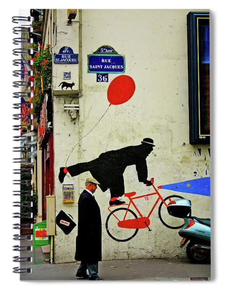 Spiral Notebook featuring the photograph Kick In The Head by Skip Hunt