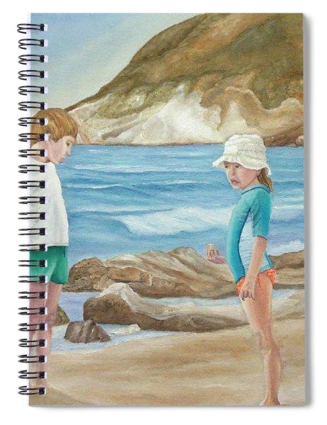 Kids Collecting Marine Shells Spiral Notebook