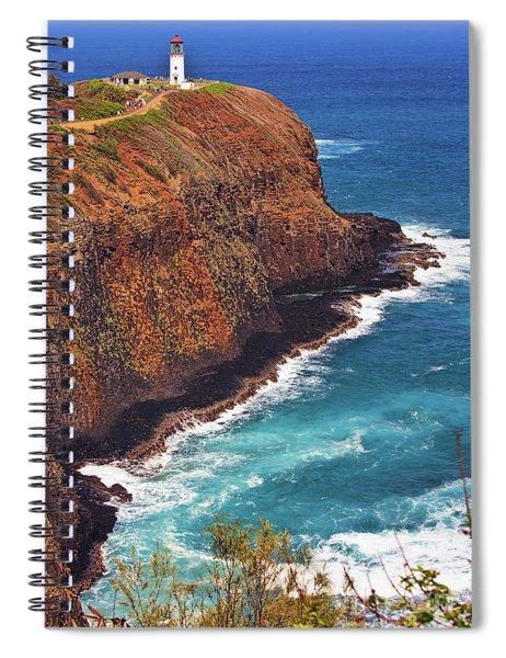 Kilauea Lighthouse On The Island Of Kauai, Hawaii, United States Of America          Spiral Notebook