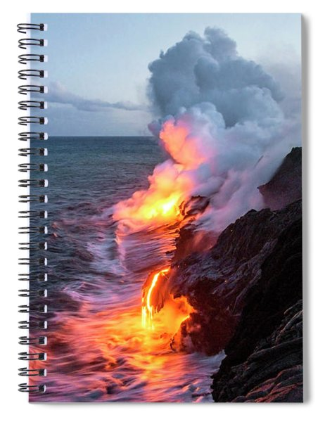 Kilauea Volcano Lava Flow Sea Entry 3- The Big Island Hawaii Spiral Notebook