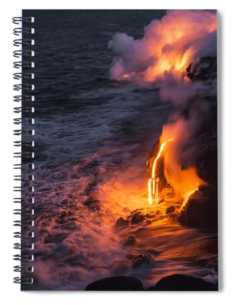 Kilauea Volcano Lava Flow Sea Entry 6 - The Big Island Hawaii Spiral Notebook