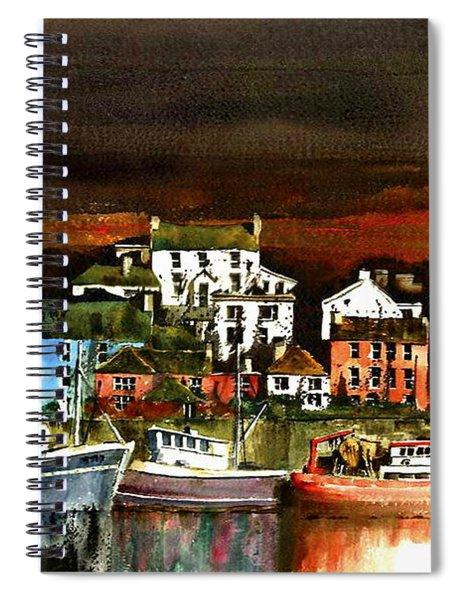 Killybegs Harbour, Donegal. Spiral Notebook