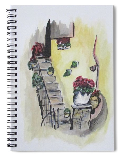 Kimberly's Castellabate Flowers Spiral Notebook