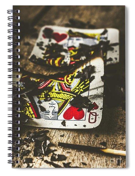 King And Queen Of Broken Hearts Spiral Notebook