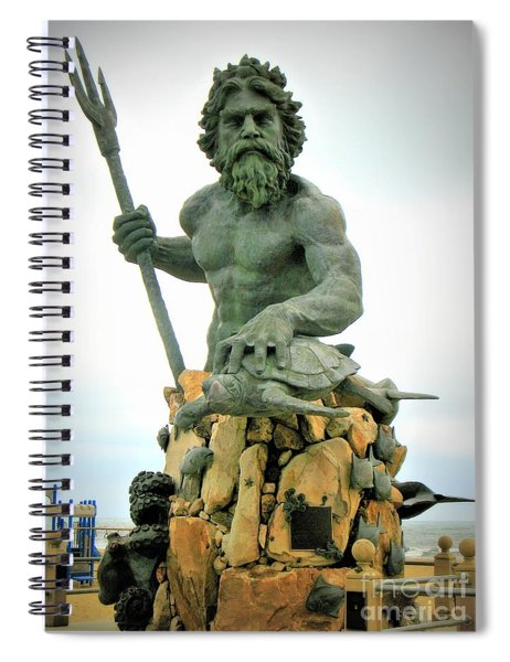 Spiral Notebook featuring the photograph King Neptune Statue by Patti Whitten