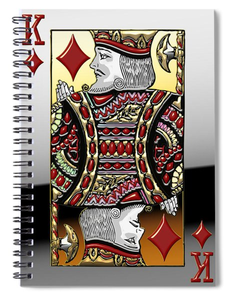 King Of Diamonds   Spiral Notebook