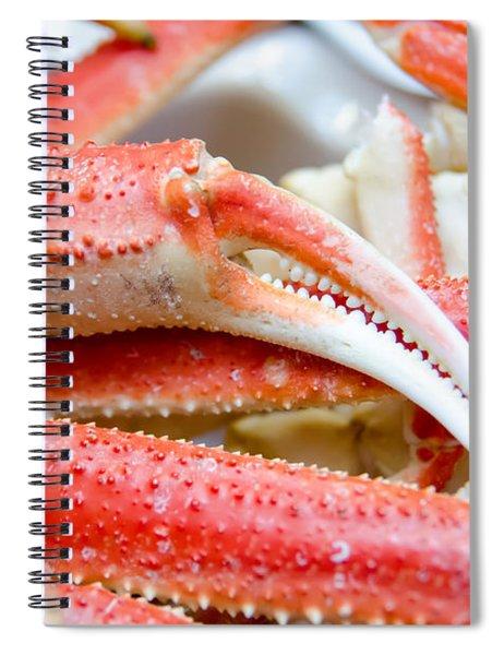 King Snow Crab Legs Ready To Eat Closeup Spiral Notebook by Alex Grichenko
