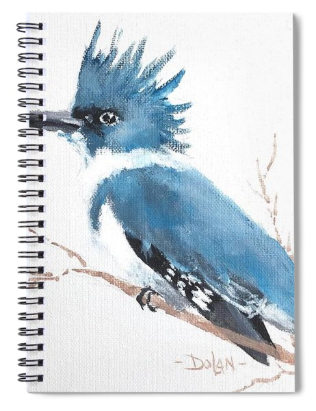 Kingfisher On A Branch Spiral Notebook