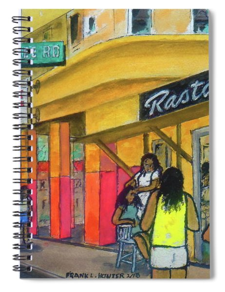 Kingston Jamaica Rasta Braid Shoppe Spiral Notebook