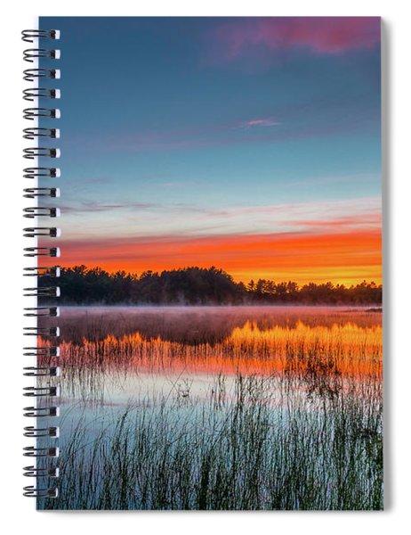 Kingston Lake Sunset Spiral Notebook
