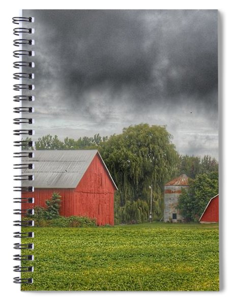 0022 - Kingston Road Red Trio I Spiral Notebook