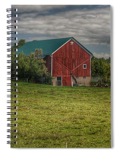 0039 - Kingston's Plain Road Cow Barn I Spiral Notebook