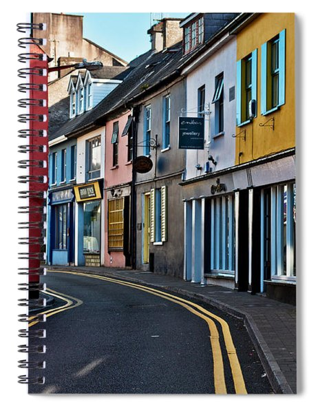 Spiral Notebook featuring the photograph Kinsale Street by Edward Peterson