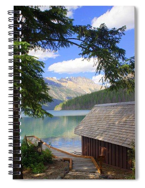 Kintla Lake Ranger Station Glacier National Park Spiral Notebook
