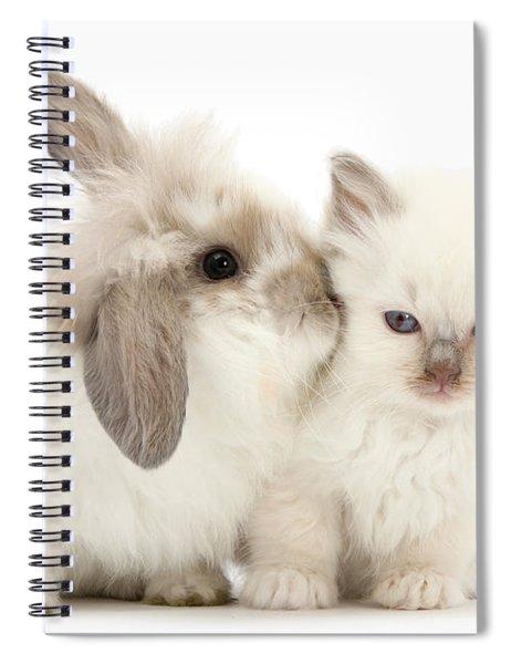 Kiss Her Fluffy Cheek Spiral Notebook