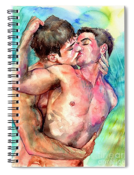 Kiss In The Light Spiral Notebook