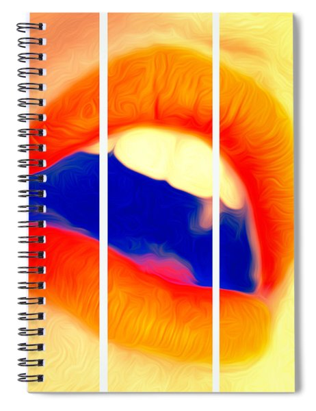 Kiss Me-triptych Spiral Notebook