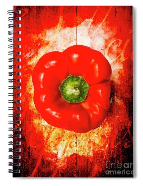 Kitchen Red Pepper Art Spiral Notebook