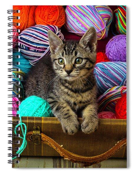 Kitten In Suitcase Spiral Notebook