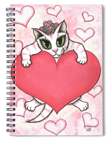Kitten With Heart Spiral Notebook