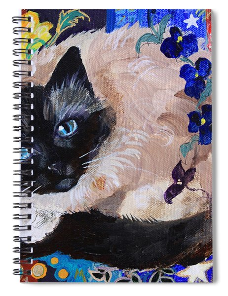 Kitty Goes To Paris Spiral Notebook