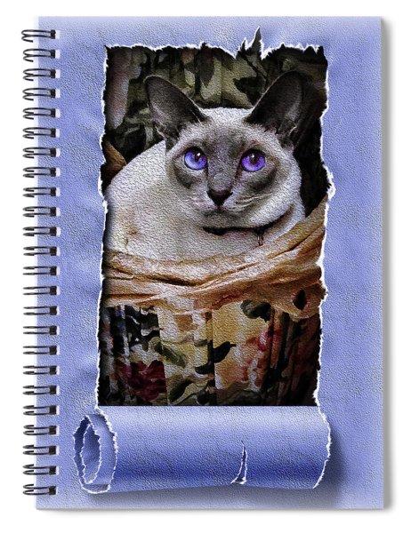 Kitty In A Basket Spiral Notebook
