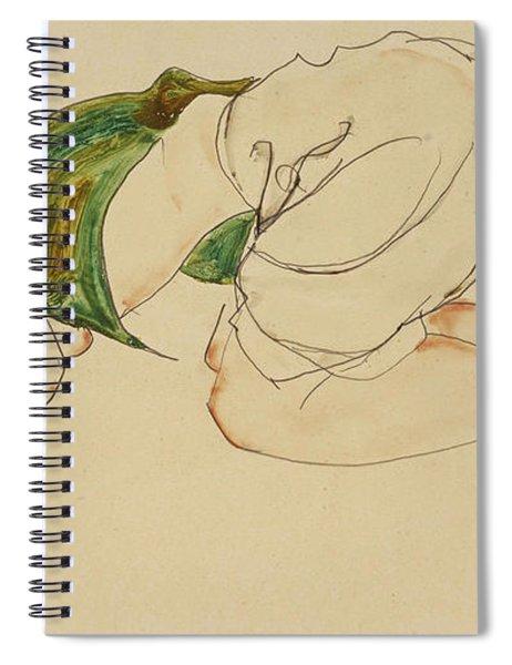 Kniende Frau Spiral Notebook