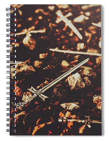 Knightly Fight Spiral Notebook