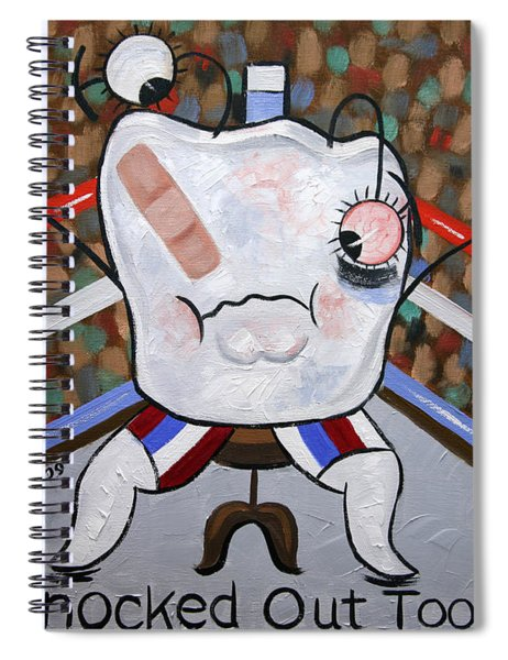 Knocked Out Tooth Spiral Notebook