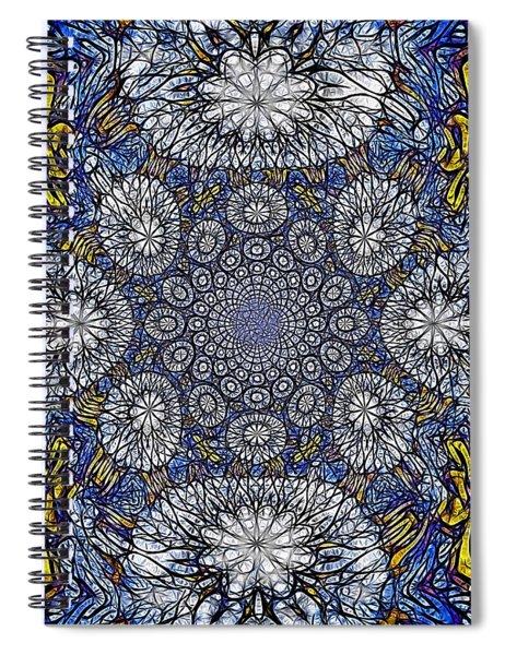 Knotted Glasswork Spiral Notebook