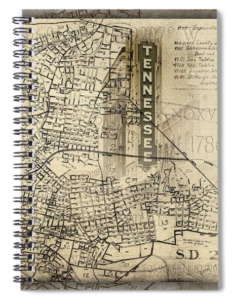 Knoxville Tennessee 1786 Spiral Notebook