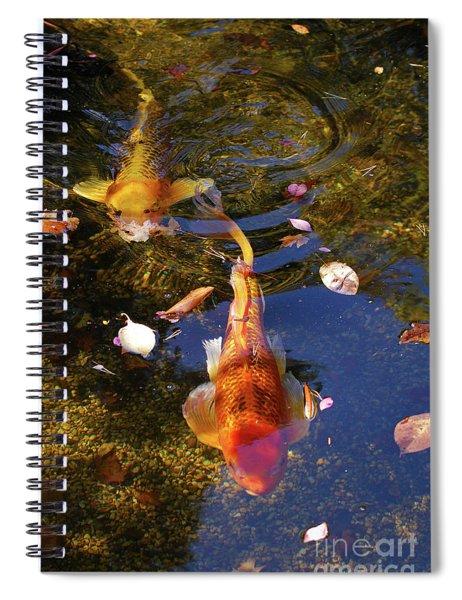 Koi In Pond Spiral Notebook