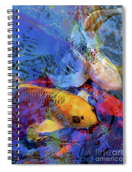 Koi Reflections Collage Spiral Notebook