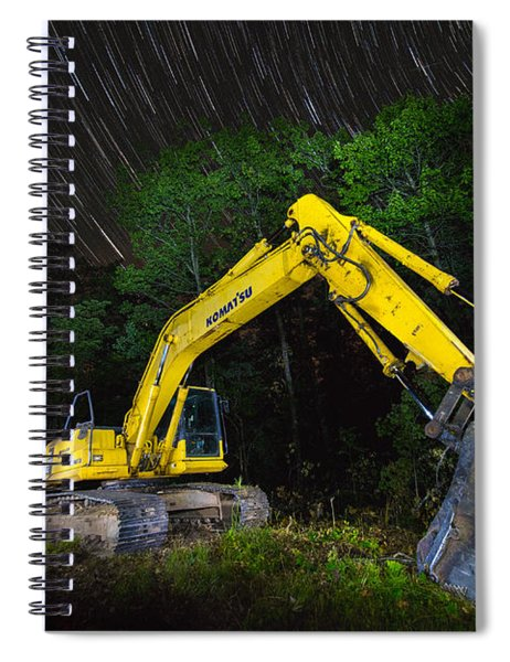 Komatsu Back Hoe Spiral Notebook