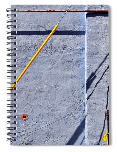 Spiral Notebook featuring the photograph Krishna Blue by Skip Hunt