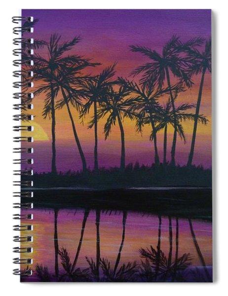 Kristine's Sunset Spiral Notebook