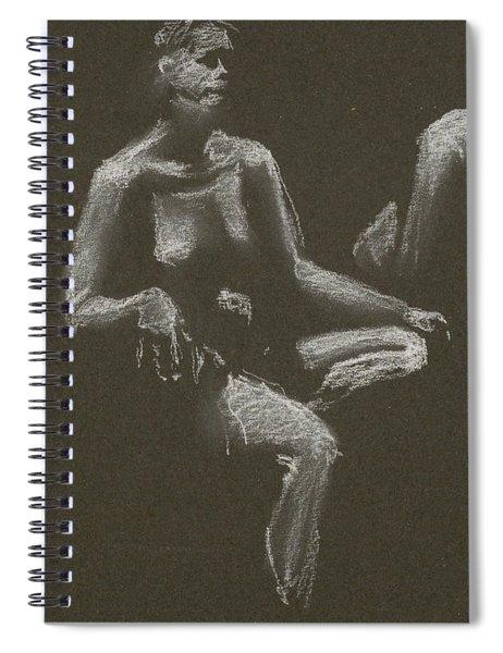 Kroki 2015 04 25 _3 Figure Drawing White Chalk Beskuren Spiral Notebook