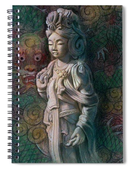 Kuan Yin Dragon Spiral Notebook