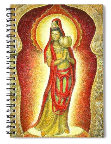 Kuan Yin Lotus Spiral Notebook