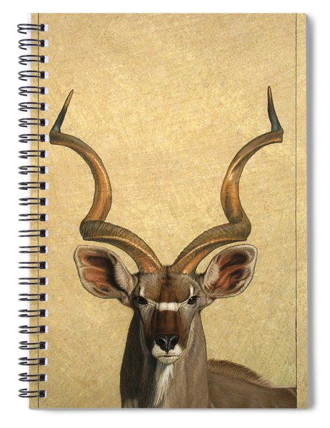 Spiral Notebook featuring the painting Kudu by James W Johnson