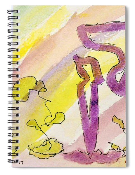 Kuf And Flowers Spiral Notebook