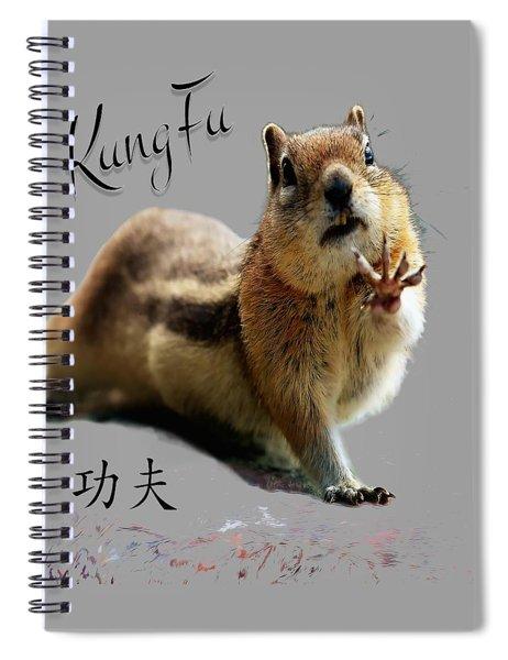 Kung Fu Chipmunk Spiral Notebook