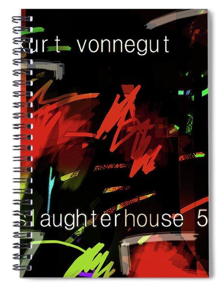 Kurt Vonnegut Poster  Spiral Notebook