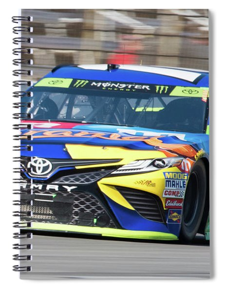 Kyle Busch Coming Out Of Turn 1 Spiral Notebook