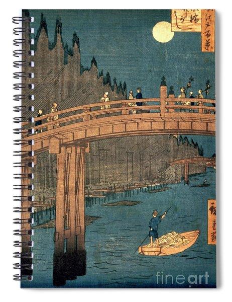 Kyoto Bridge By Moonlight Spiral Notebook