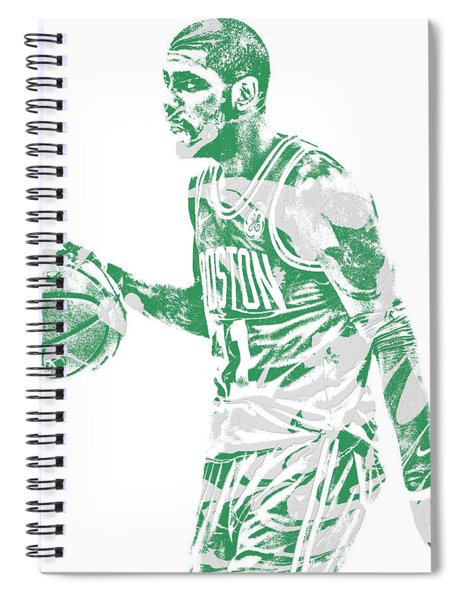 Kyrie Irving Boston Celtics Pixel Art 40 Spiral Notebook