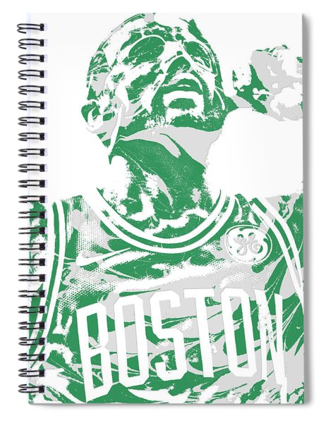 Kyrie Irving Boston Celtics Pixel Art 41 Spiral Notebook