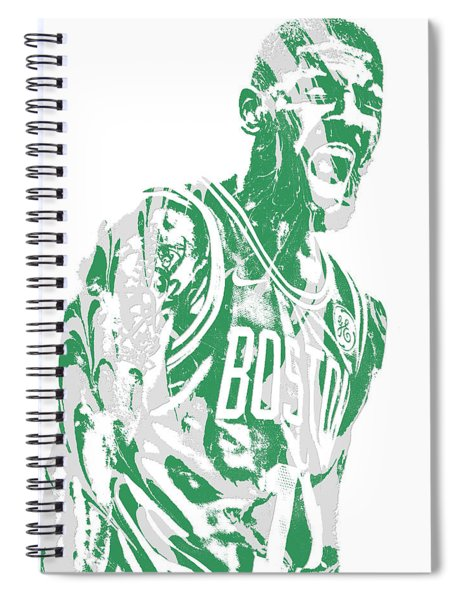 Kyrie Irving Boston Celtics Pixel Art 42 Spiral Notebook