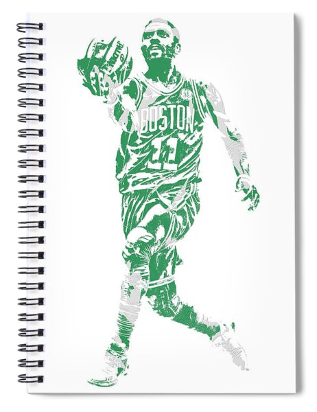 Kyrie Irving Boston Celtics Pixel Art 43 Spiral Notebook
