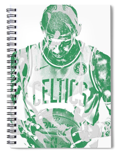 Kyrie Irving Boston Celtics Pixel Art 5 Spiral Notebook